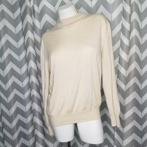 VTG PAUL STUART cashmere silk turtlneck sweater